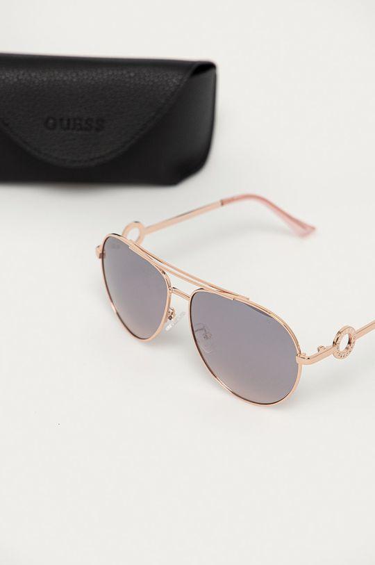 Guess - Slnečné okuliare GF0364 28U  Syntetická látka, Kov