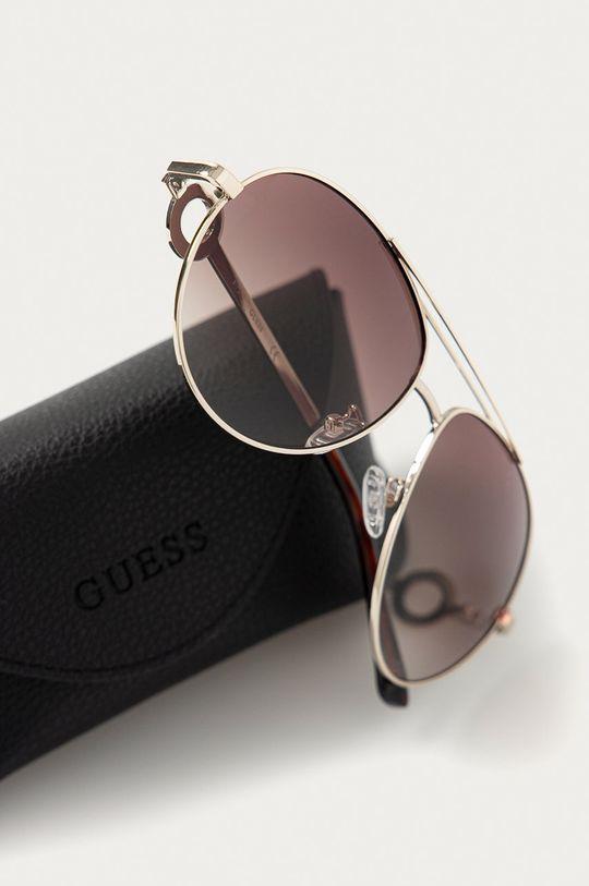 Guess - Slnečné okuliare GF0364  Syntetická látka, Kov