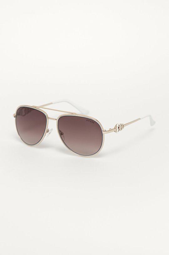 srebrny Guess - Okulary przeciwsłoneczne GF0344 Damski