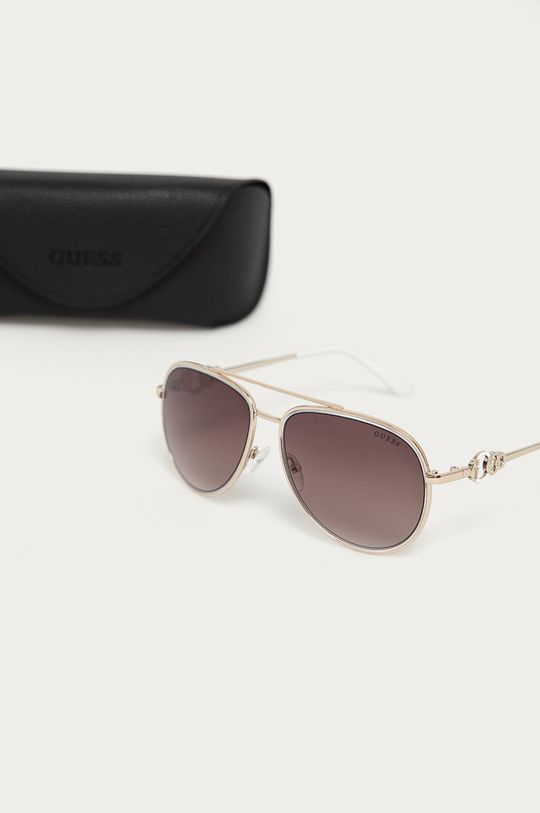 Guess - Okulary przeciwsłoneczne GF0344 Materiał syntetyczny, Metal
