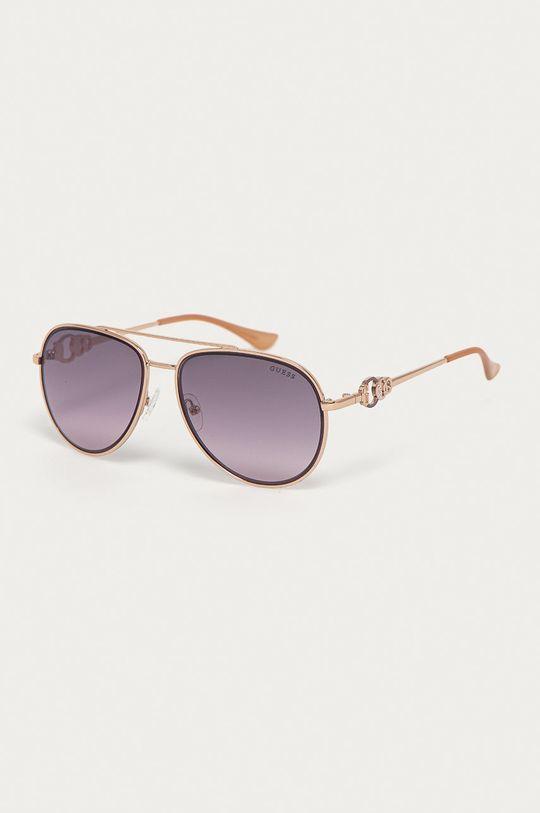 złoty Guess - Okulary przeciwsłoneczne GF0344 28U Damski