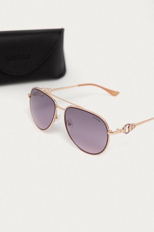 Guess - Okulary przeciwsłoneczne GF0344 28U Materiał syntetyczny, Metal