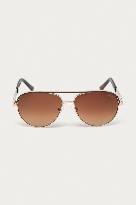 Guess - Okulary przeciwsłoneczne GF0287 brązowy