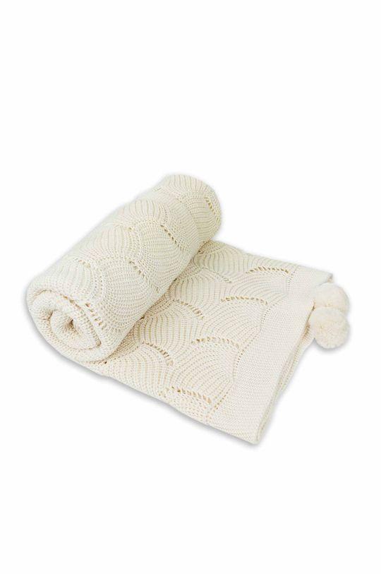 kremowy Jamiks - Kocyk niemowlęcy Fesa Dziecięcy
