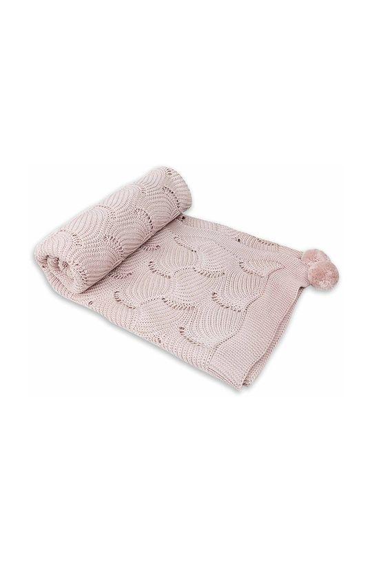 pastelowy różowy Jamiks - Kocyk niemowlęcy Fesa Dziecięcy