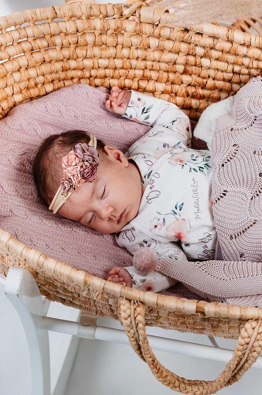 Jamiks - Kocyk niemowlęcy Fesa pastelowy różowy