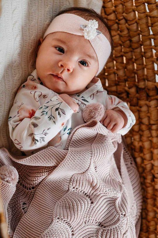 pastelowy różowy Jamiks - Kocyk niemowlęcy Fesa