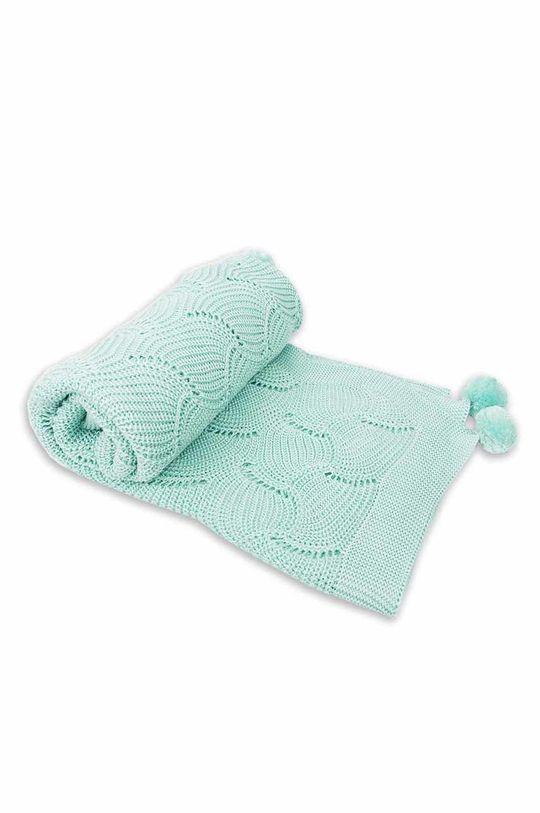 blady zielony Jamiks - Kocyk niemowlęcy Fesa Dziecięcy