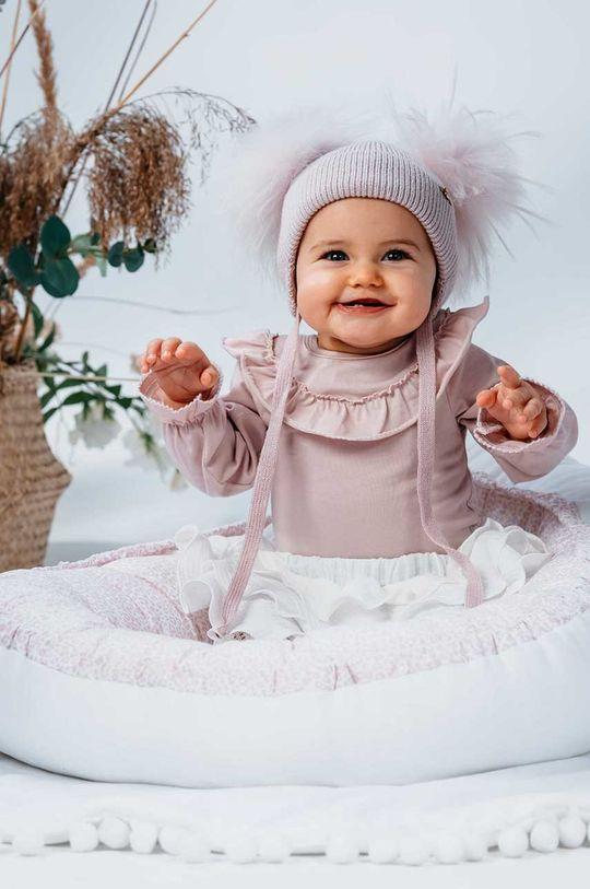 Jamiks - Kokon niemowlęcy Holland pastelowy różowy
