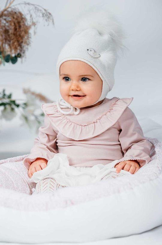 pastelowy różowy Jamiks - Kokon niemowlęcy Holland