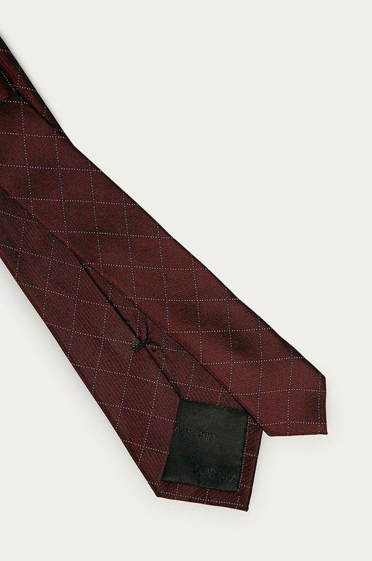 Calvin Klein - Krawat kasztanowy