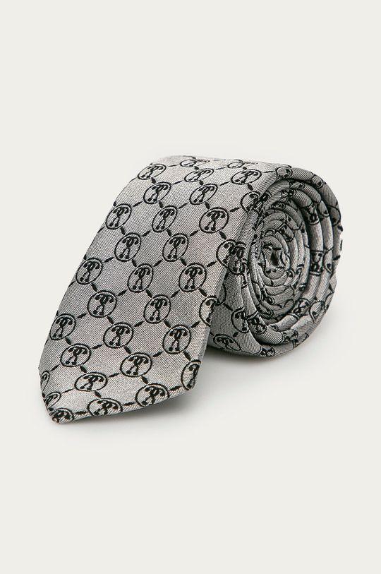 jasny szary Moschino - Krawat Męski