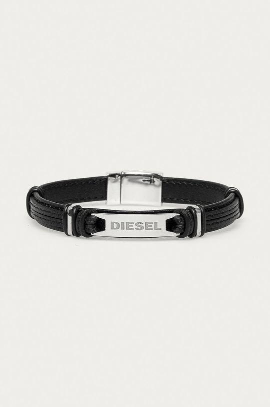 czarny Diesel - Bransoletka Męski