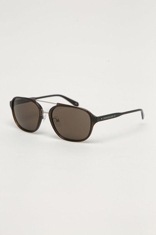 tmavě hnědá Calvin Klein Jeans - Sluneční brýle CKJ19517S Pánský
