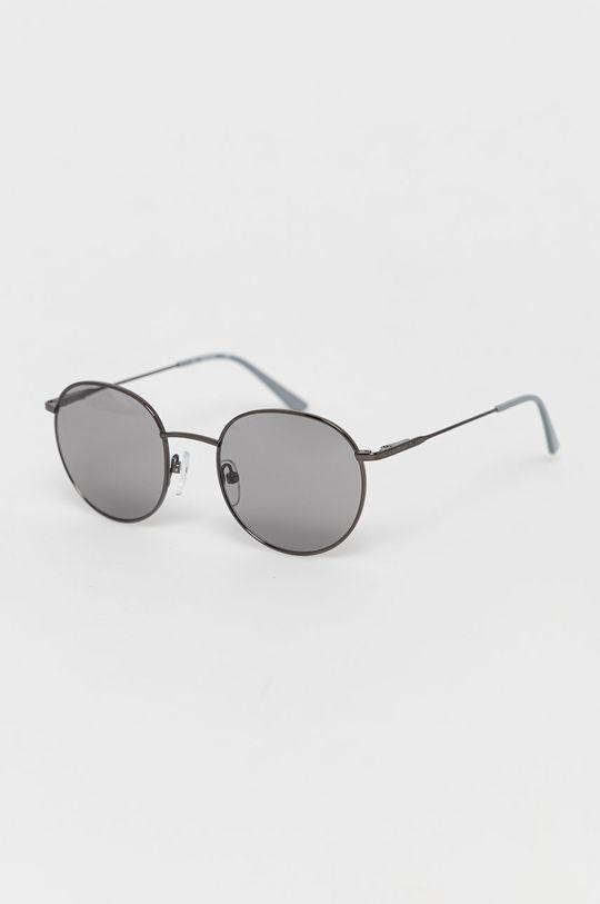 srebrny Calvin Klein - Okulary przeciwsłoneczne CK18104S Męski