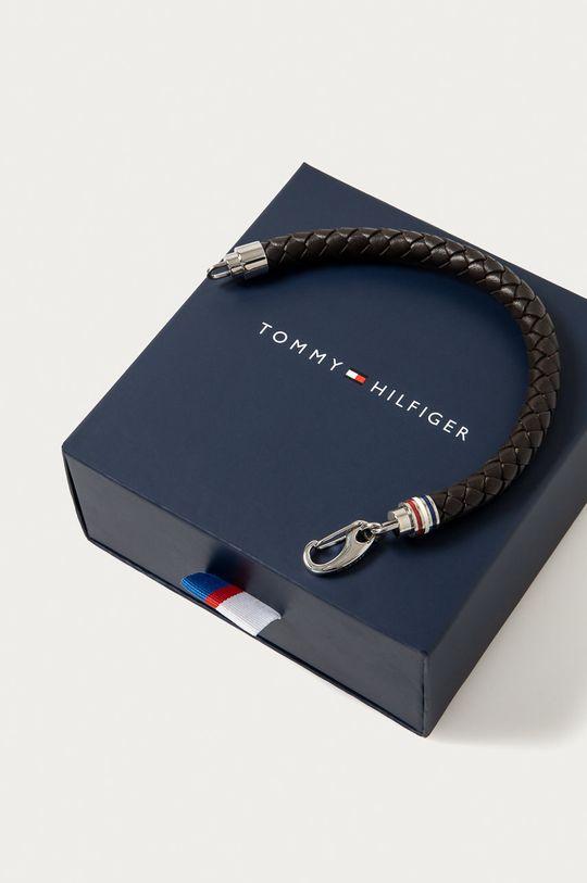 Tommy Hilfiger - Kožený náramek hnědá