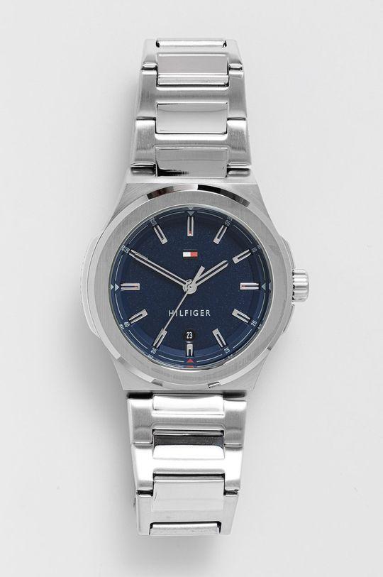 srebrny Tommy Hilfiger - Zegarek Męski