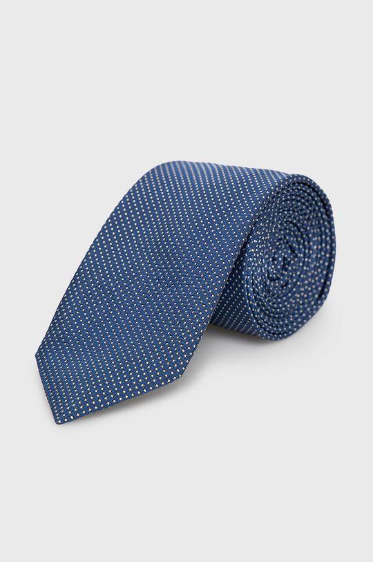niebieski Hugo - Krawat Męski