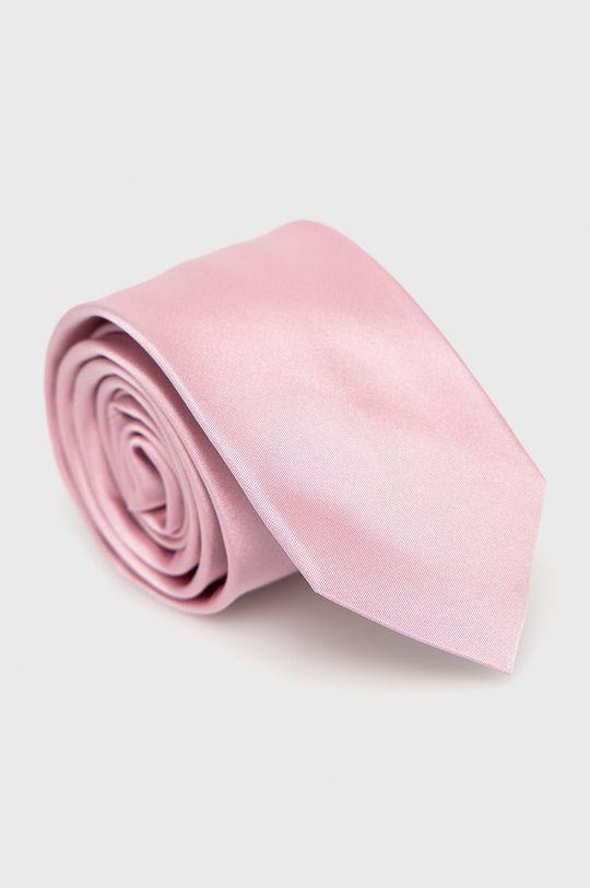 pastelowy różowy Hugo - Krawat Męski