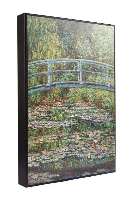 zielony MuseARTa - Pudełko prezentowe Claude Monet - Bridge over a Pond of Water Lilies Unisex