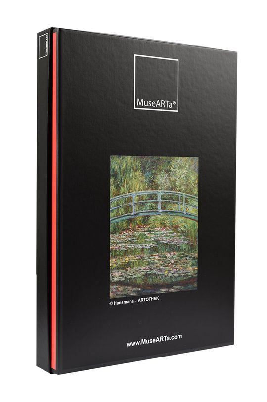 MuseARTa - Pudełko prezentowe Claude Monet - Bridge over a Pond of Water Lilies zielony