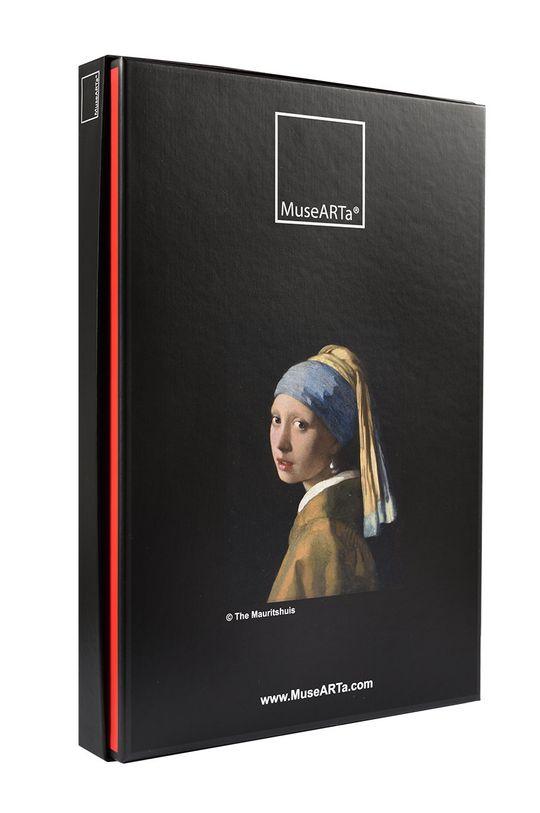 MuseARTa - Pudełko prezentowe Jan Vermeer - Girl with a Pearl czarny