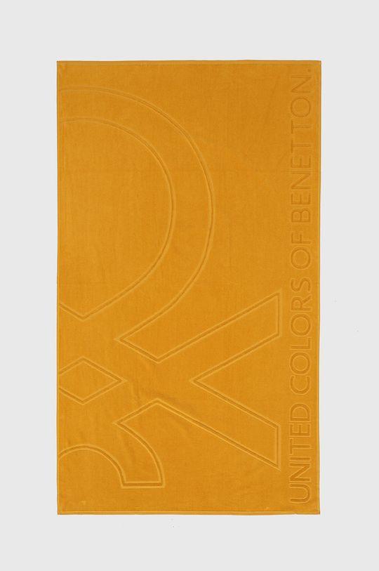 žlutá United Colors of Benetton - Osuška Unisex