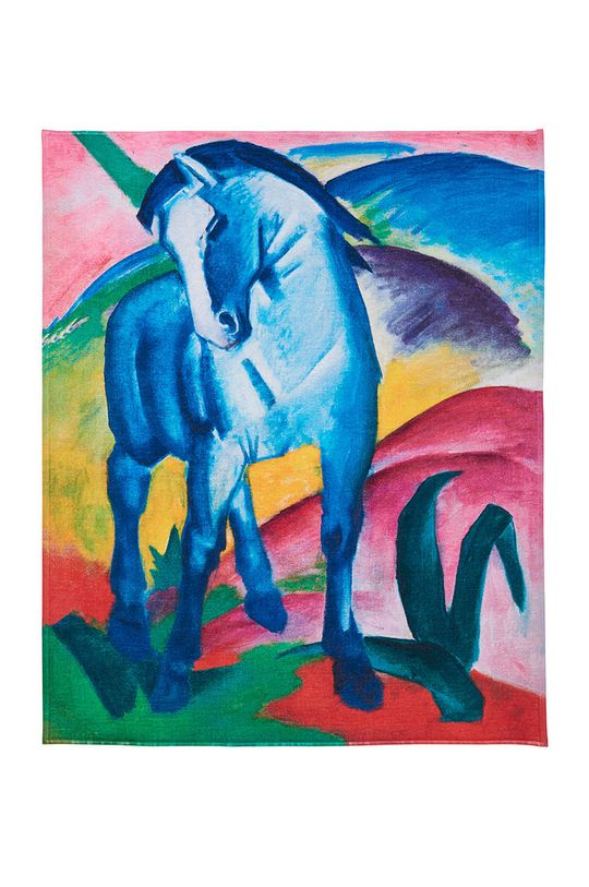 multicolor MuseARTa - Ręcznik Franz Marc - Blue Horse I Unisex