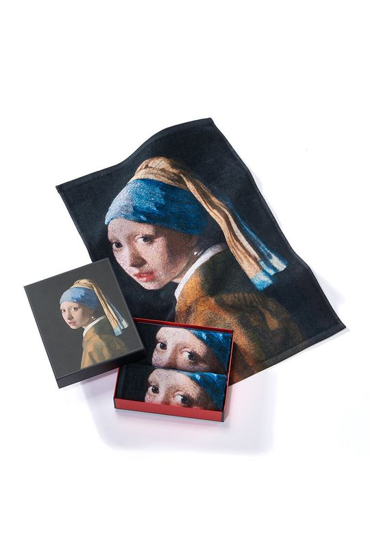 vícebarevná MuseARTa - Ručník Jan Vermeer Girl with a Pearl Earring (2-pack) Unisex