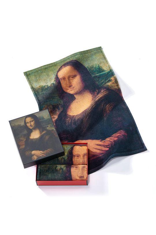 vícebarevná MuseARTa - Ručník Leonardo da Vinci Mona Lisa (2-pack) Unisex