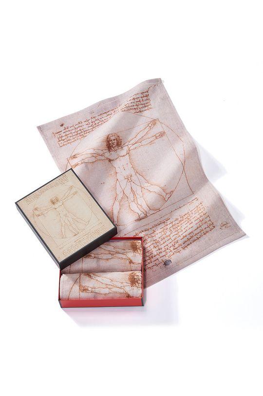 vícebarevná MuseARTa - Ručník Leonardo da Vinci The Vitruvian Man (2-pack) Unisex
