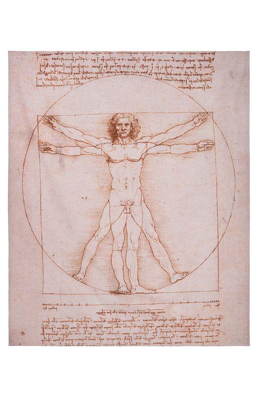 multicolor MuseARTa - Ręcznik Leonardo da Vinci - The Vitruvian Man Unisex