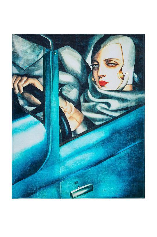 vícebarevná MuseARTa - Ručník Tamara de Lempicka Tamara in the Green Bugatti Unisex