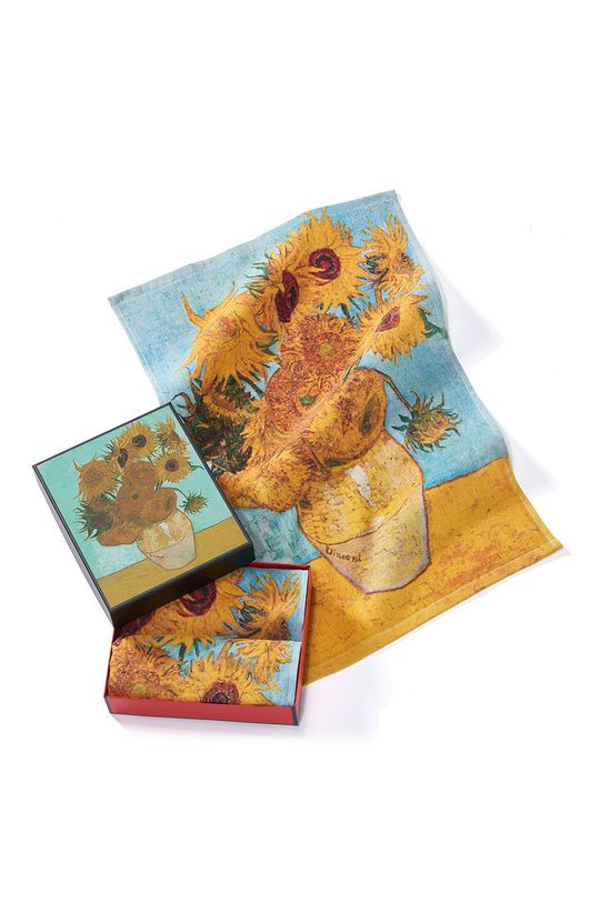 vícebarevná MuseARTa - Ručník Vincent van Gogh Vase with Twelve Sunflowers (2-pack) Unisex