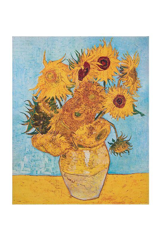 vícebarevná MuseARTa - Ručník Vincent Van Gogh Vase with Twelve Sunflowers Unisex