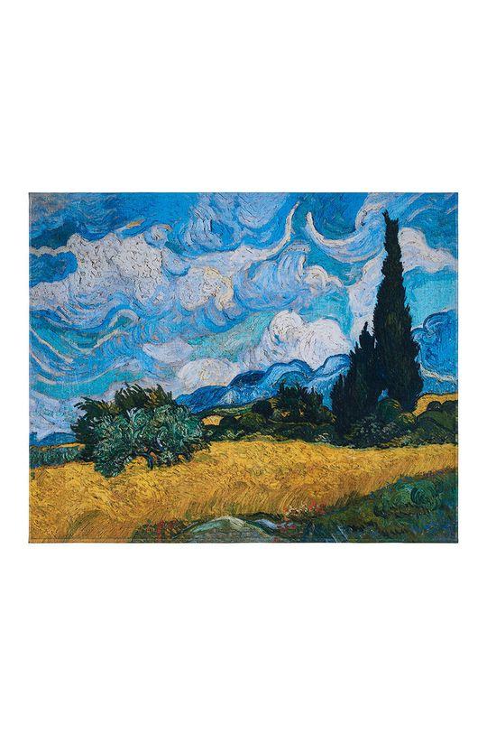 vícebarevná MuseARTa - Ručník Vincent van Gogh Wheatfield with Cypresses Unisex