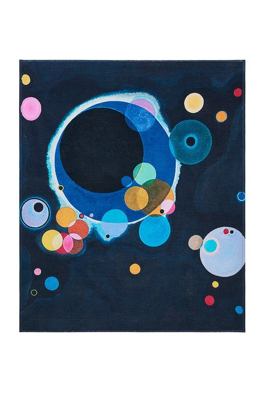 multicolor MuseARTa - Ręcznik Vasily Kandinsky - Several Circles Unisex