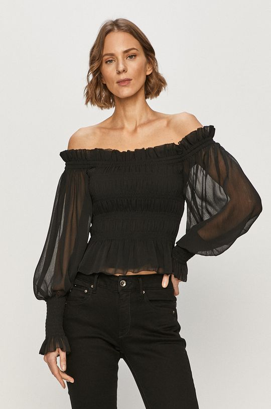 czarny AllSaints - Bluzka LARA Damski