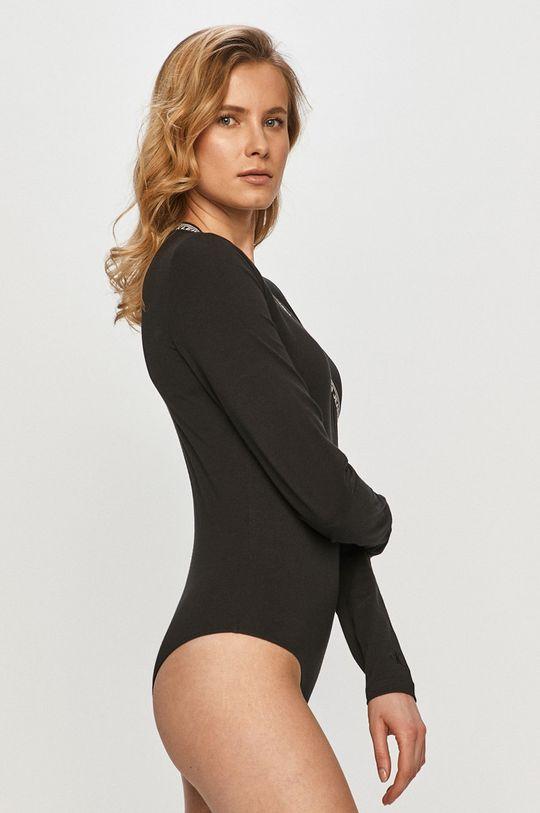 čierna Calvin Klein Jeans - Tričko s dlhým rukávom