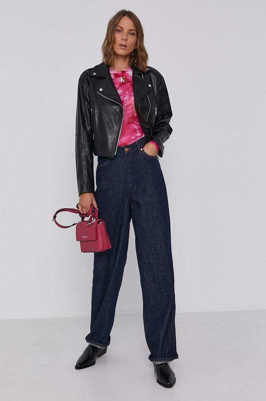 Calvin Klein Jeans - Halenka fuchsiová