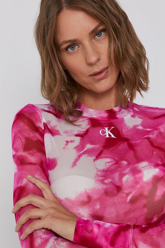 fuchsiová Calvin Klein Jeans - Halenka