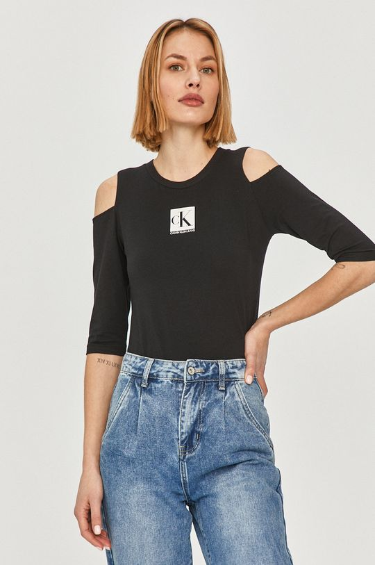 czarny Calvin Klein Jeans - T-shirt Damski