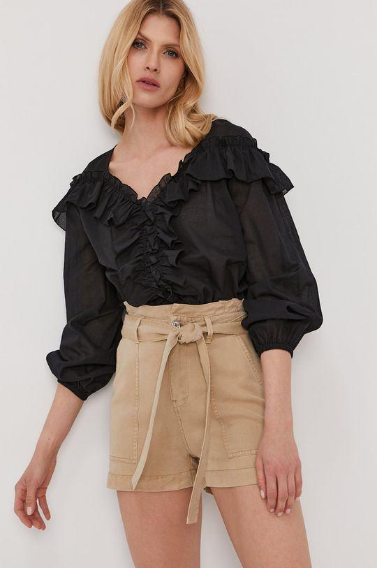 чорний Liu Jo - Бавовняна блузка Жіночий