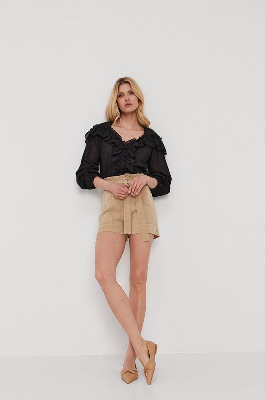 Liu Jo - Бавовняна блузка чорний