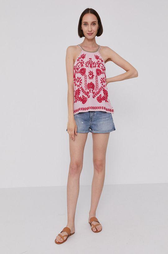 różowy Pepe Jeans - Bluzka SABINA