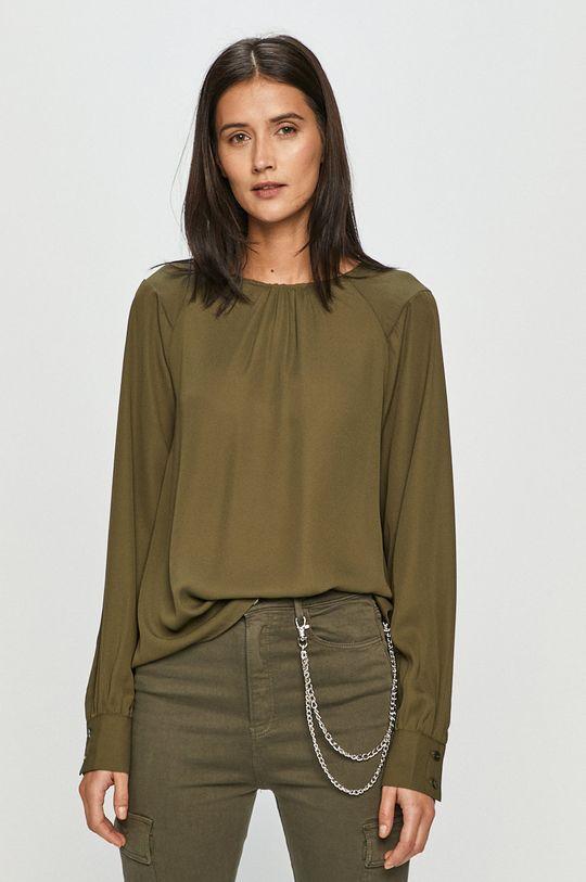 oliwkowy Vero Moda - Bluzka Damski