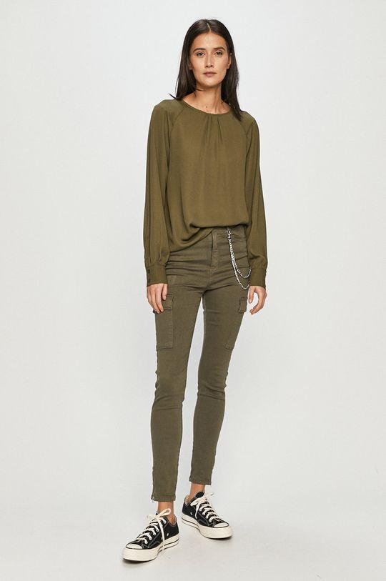 Vero Moda - Bluzka oliwkowy