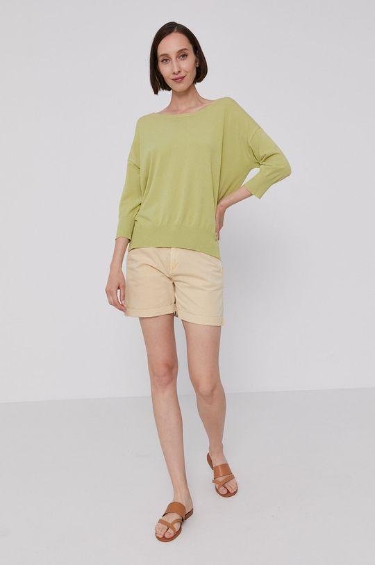 Mos Mosh - Sweter jasny oliwkowy