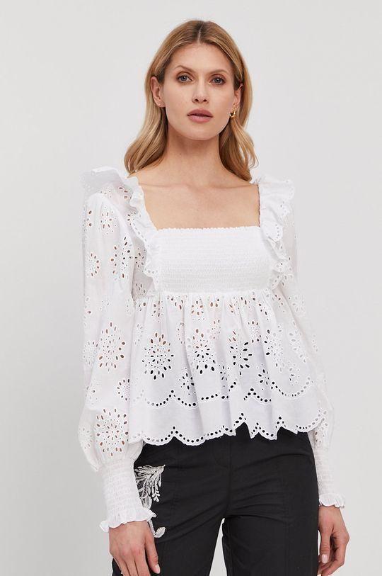 biały Twinset - Bluzka bawełniana Damski