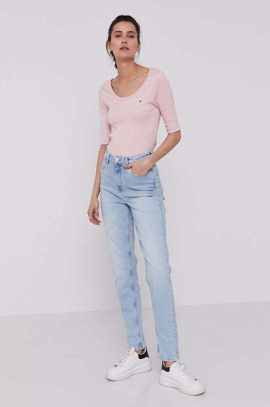 Tommy Hilfiger - Tričko pastelová ružová